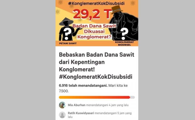 7000 Petani Sawit Tanda Tangani Petisi Online, Bebaskan Dana Sawit Dari Kepentingan